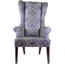 Linen Solid Wood Long Chair