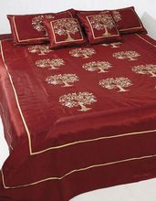 Decorative silk bedding