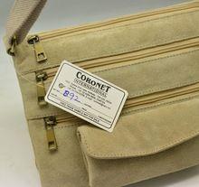 genuine suede leather messenger bag
