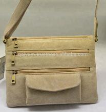 Vintage Leather suede Shoulder Military Messenger Bag