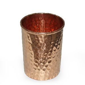 Hammered full copper glass