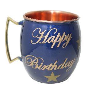 Happy Birthday Mug with brass handle