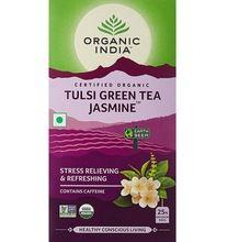 Organic Tulsi Green Tea, Jasmine Tea Bags