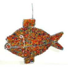 Glass Beads Fish Hanging Christmas Ornaments