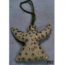Jute And Glass Beads Christmas Tree Ornaments
