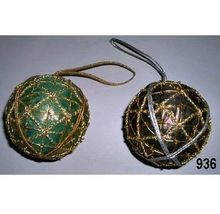 Zari Ball Hanging Christmas Ornaments