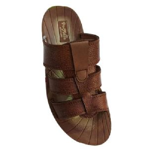 Men Simple Leather Slipper