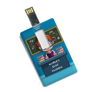 Acrylic And Plastic Card Shape Usb 3.0 Pen Drive