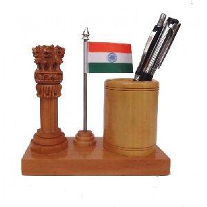 Handmade Wooden Pen Stand