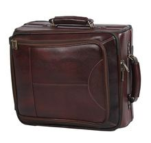 Leather And Plastic Trolley Travel Luggage Bag