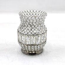 Iron Crystal Candle Votive Holder