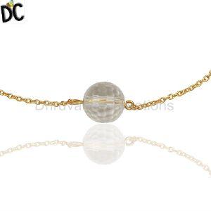 Crystal Quartz Gemstone Ball Bracelets
