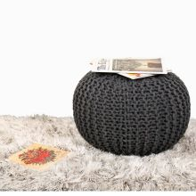 Handmade Cotton Foot Stool Knitted Pouf