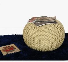Handmade Knitted Dori Pouf