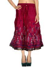 Long Hippie Boho Cotton Skirt