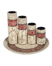 Painted Vintage Candle Holder Stand