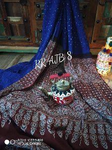 Bandhej And Ajrakh Print On Modal Sarees