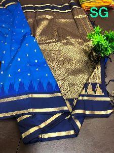 Exclusive Semi Gadwal Soft Silk Sarees With Traditional Kadiyal Border