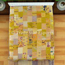 Cotton Silk Kantha Quilts