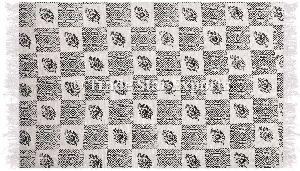 Ethnic Hand Block Print Art Floor Yoga Mat