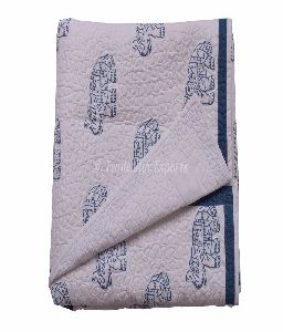 Hand Block Print Baby Quilt