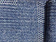 Hand Block Print Patchwork Kantha Quilt