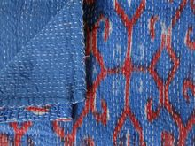Hand Stitched Ikat Kantha Quilt