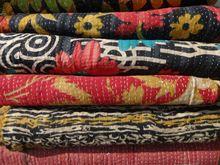 Printed Kantha Quilt Blanket