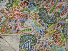 Printed Paisley Kantha Quilt