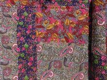 Printed Patchwork Kantha Quilt