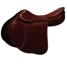 Dark Brown Leather Jumping Horse Saddle