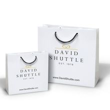 White Foil Logo Printing Shopping Paper Bag