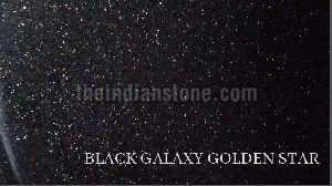 Black Galaxy Golden Star Granite Tiles