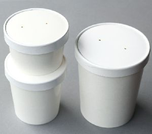 Paper Food Container With Paper Lid