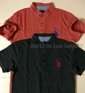 Mens Chinese Collar T-shirt