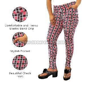 Ladies Cotton Printed Lycra Jeggings