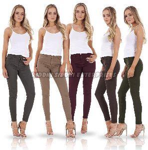 Ladies Plain Skinny Jeans