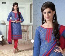 Designer Suits In Chanderi Silk