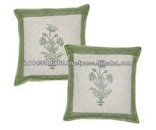 Block Print Work Cushion Covers
