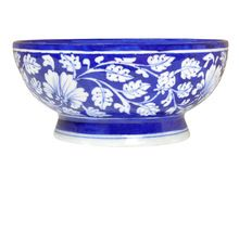 Exclusive Handmade Vintage Blue Pottery Bowl