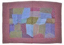 Unique Patchwork Indian Tribal Multi Color Cotton Handmade Sari