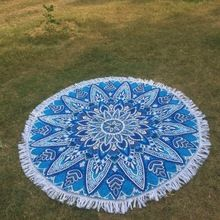 Otton Round Beach Towels With Tassels Fringe