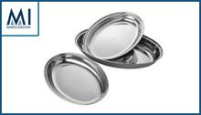 Stainless Steel Trays Oval Curry Dish