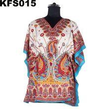 Short Kaftan Dress With Short Sleeveless Elegant