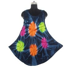 Tie Dye Cotton Women Dresses
