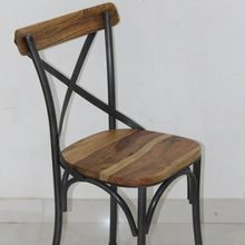 iron metal and wooden Dining chair