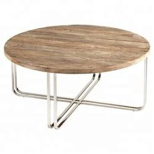 Iron wooden round Coffee Table