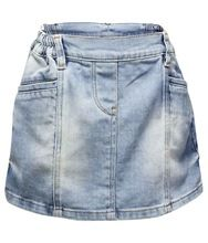 Plain Mini Denim Skirt
