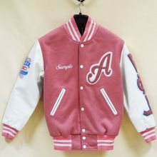 Pink White Letterman Jacket