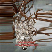 Hanging Crystal Candle Holder